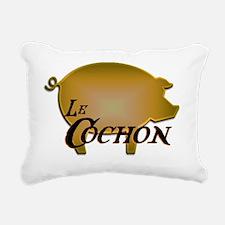 Le Cochon Rectangular Canvas Pillow