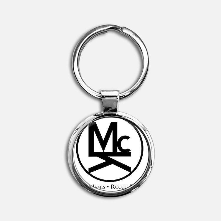McK Brand Round Keychain
