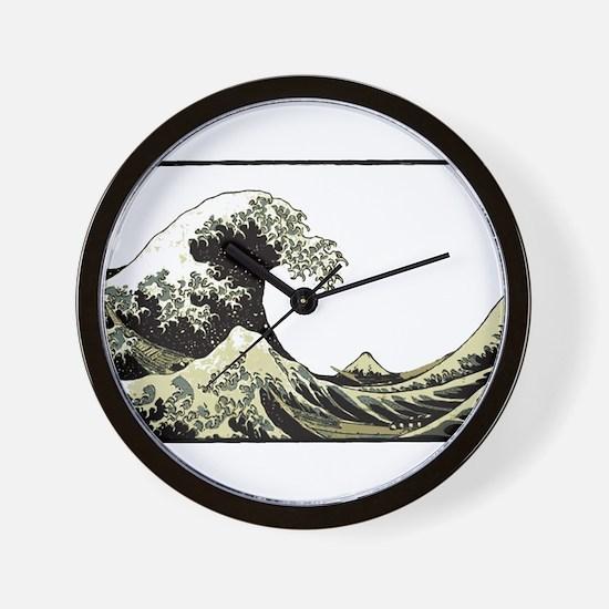 Hokusai Wave Wall Clock