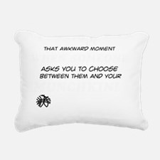 Choose Between Them And  Rectangular Canvas Pillow