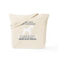 I Like My Kerry Blue Terrier Tote Bag