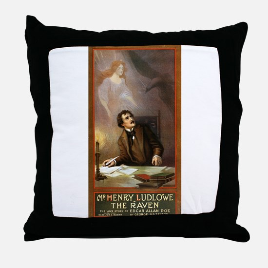 Raven - US Lithograph - 1908 Throw Pillow