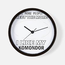 I Like My Komondor Wall Clock