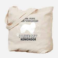 I Like My Komondor Tote Bag