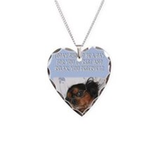 Happy Fathers Day Lazy Dog In Necklace
