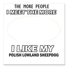 "I Like My Polish Lowland Square Car Magnet 3"" x 3"""