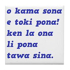toki pona slogan 4 Tile Coaster