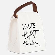White Hat Hacker Canvas Lunch Bag