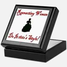 Civil War Reenacting Women Keepsake Box