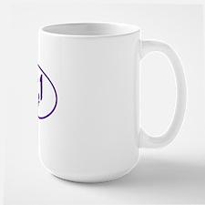 Purple 13.1 half-marathon Large Mug