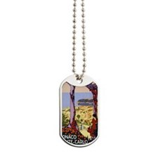 Antique Monaco Land of Sun Travel Poster Dog Tags