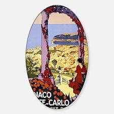 Antique Monaco Land of Sun Travel P Sticker (Oval)