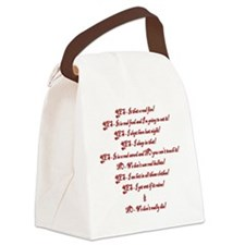 Yes and No Canvas Lunch Bag
