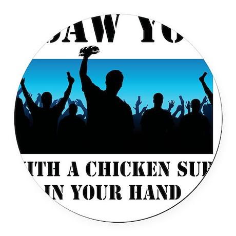 Chicken Sub Round Car Magnet