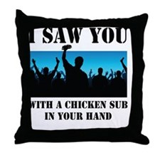 Chicken Sub Throw Pillow