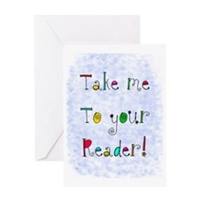 take me to your reader jewelry Greeting Card