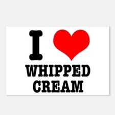 I Heart (Love) Whipped Cream Postcards (Package of
