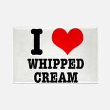 I Heart (Love) Whipped Cream Rectangle Magnet