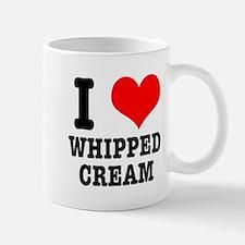 I Heart (Love) Whipped Cream Mug