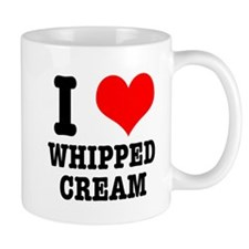 I Heart (Love) Whipped Cream Mug