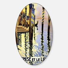 Antique Venice Canal Travel Poster Decal