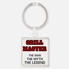 Grill Master Square Keychain