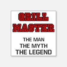 """Grill Master Square Sticker 3"""" x 3"""""""