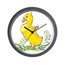 Cute Easter Duck Wall Clock
