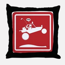 SAND RAIL Jumping Caution Signs Throw Pillow