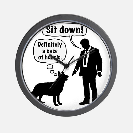 Cartoon, dog & lordling: Sit down! Case Wall Clock