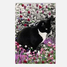 Freckles the Tux Cat in F Postcards (Package of 8)