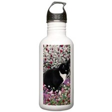 Freckles the Tux Cat i Water Bottle