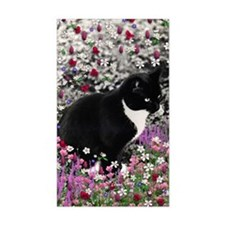 Freckles the Tux Cat in Flower Decal