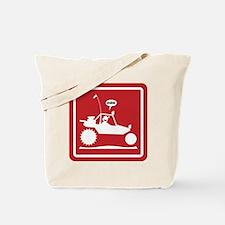 Stickman Sand Rail Caution Signs Tote Bag