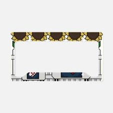Sheep Sunflowers Crow and Hea License Plate Holder