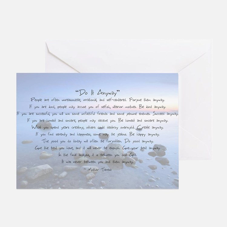 Do It Anyway Greeting Card