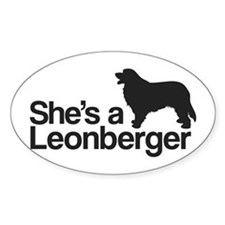 She's a Leonberger Decal