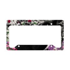 Freckles the Tux Cat in Flowe License Plate Holder