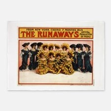 The runaways - US Lithograph - 1908 5'x7'Area Rug