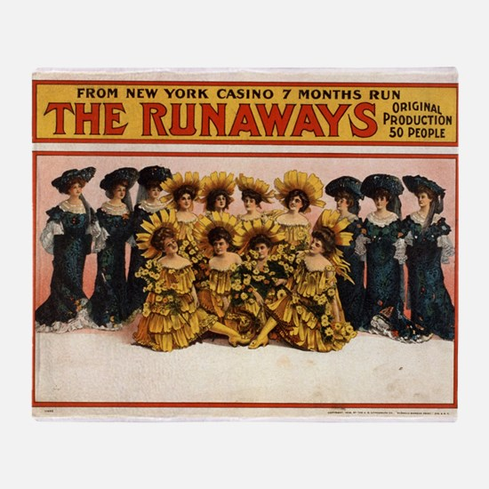 The runaways - US Lithograph - 1908 Throw Blanket