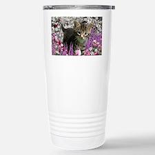 Emma Tabby Kitten in Fl Stainless Steel Travel Mug