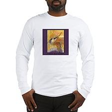 Gold Moon Heron Long Sleeve T-Shirt