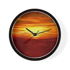 Red Dawn Wall Clock