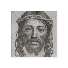 "Jesus!  All Over! Square Sticker 3"" x 3"""