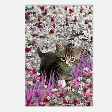 Emma Tabby Kitten in Flow Postcards (Package of 8)