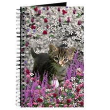 Emma Tabby Kitten in Flowers I Journal
