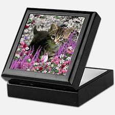 Emma Tabby Kitten in Flowers I Keepsake Box