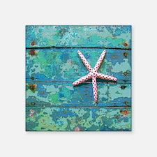 "Starfish and Turquoise Seas Square Sticker 3"" x 3"""