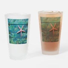 Starfish and Turquoise Seashore Drinking Glass