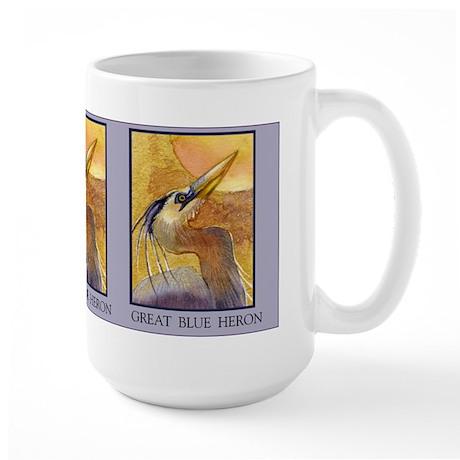 Gold Moon Heron Large Mug
